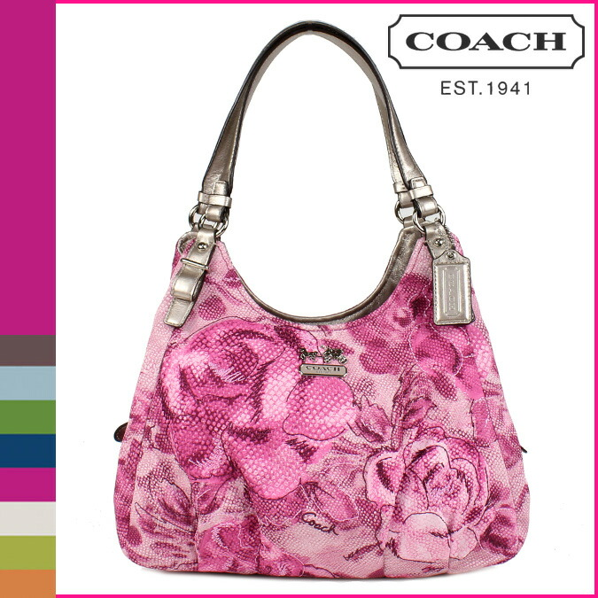 Coach Madison Floral Print Maggie Shoulder Bag - Leather Travel Bags