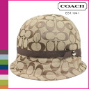 Coach COACH Hat Cap khaki signature women's