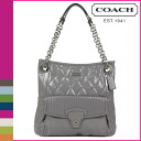 Coach COACH poppy POPPY tote bag [F18673] gray poppy liquid gloss slim ladies [regular outlet]
