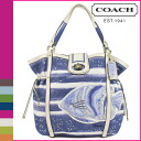 Coach COACH tote bag ナチュラルネイビー Audrey motif canvas Womens