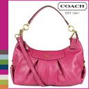 Coach COACH shoulder bag 2-Way magenta Peacock Ashley leather convertible Hobo women's
