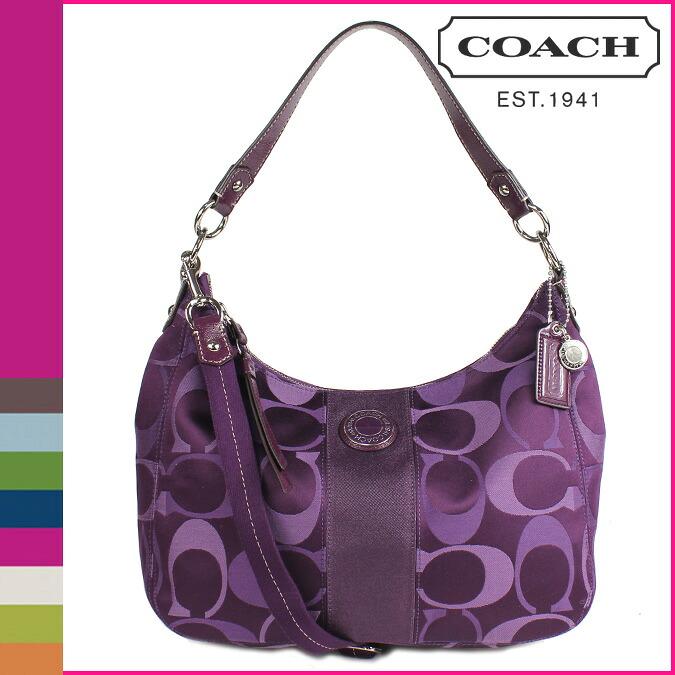 Coach Shoulder Bag Purple 108