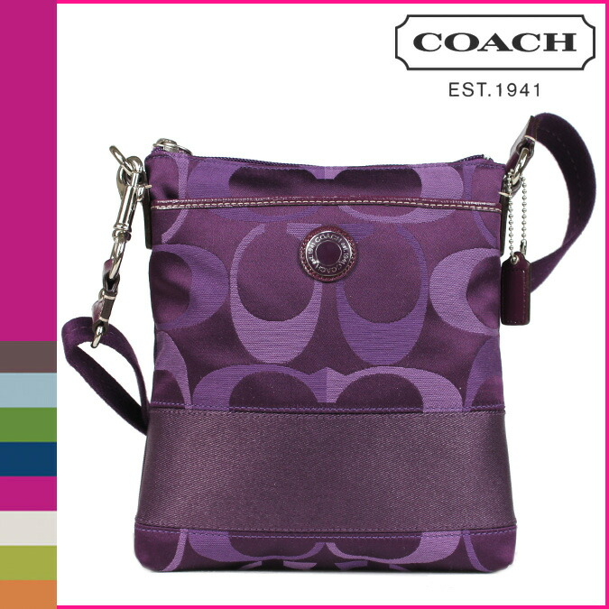 Coach Shoulder Bag Purple 26