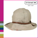 Coach COACH Hat mid khaki women's floppy Hat