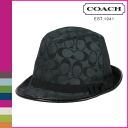 Coach COACH Hat Black signature Fedora ladies]