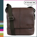 Coach COACH men's shoulder bag mahogany Camden ペブルト leather