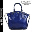 Coach COACH tote bag 2-Way Ultramarine Aubergine Madison patent Lindsey satchel ladies