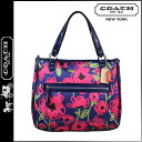 Coach COACH poppy POPPY tote bag Navy multi floral print Harry e/w women's
