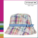 Coach COACH Hat multicolor Daisy Madras Crusher Womens