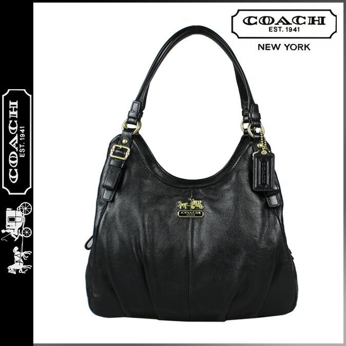 Coach Madison Leather Shoulder Bag Black 79