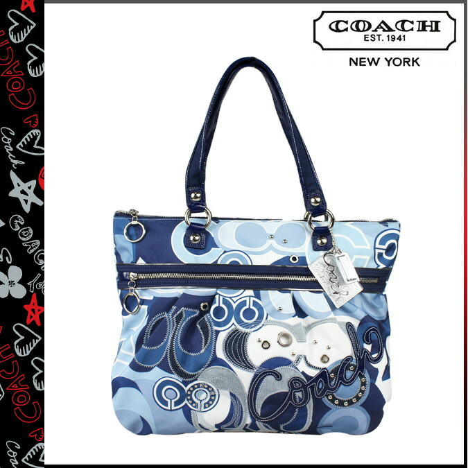 Coach COACH poppy POPPY tote bag Blue Jean multi poppy pop C denim ...