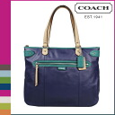 Coach COACH tote bag Navy multi Daisy spectator leather Emma ladies