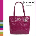 Coach COACH tote bag [F26901] passion Berry Peyton op art embossed patent leather slim ladies [regular outlet]