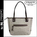 Coach COACH poppy POPPY tote bag khaki / mahogany signature Oxford small ladies ★ ★