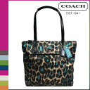 Coach COACH tote bag [F25282] ジェードマルチカラーオセロットプリントレディース [regular outlet]