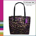 Coach Ocelot print women's COACH tote bag [F25282] violet multi [regular outlet] [12 / 27 Add in stock]