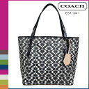 Coach COACH tote bag [F27350] black X white Payton dream c zip top ladies [regular outlet ][1/28 Shinnyu load] ★★ 10P01Feb14