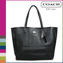 Coach COACH Lady's tote bag F31326 black metro leather Thoth [6/30 Shinnyu load] [regular outlet]★★
