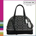 Coach COACH Womens 2WAY Tote F31401 black x white Peyton signature perforated PVC ドームド satchel [8 / 26 back in stock] regular outlet ★ ★