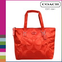 Point five times coach COACH Womens Tote Bag F77322 vermilion getaway signature nylon small Packable Tote with pouch [7 / 14 new in stock] regular outlet ★ ★