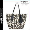 Coach COACH women's Boutique products Tote 33851 Leopard cross-grain leather Ocelot print coach taxi Tote [3 / 2 new in stock] regular outlet ★ ★