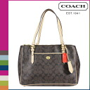 Coach COACH Womens Tote Bag F24603 Brown Peyton signature Tote [2 / 2 new in stock] regular outlet ★ ★