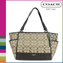 Coach COACH Womens Tote Bag F28728 khaki x mahogany Park signature tote bag [2 / 2 new in stock] regular outlet ★ ★