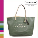 Coach COACH Lady's tote bag F31315 olive parka metro hose and carriage Thoth [8/26 Shinnyu load] [regular outlet]★★
