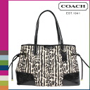 Point 2 x coach COACH Womens Tote Bag F31423 black multi signature stripe Leopard DrawString carryall [10 / 28 new in stock] regular outlet 02P30Nov14