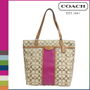 Coach COACH Womens Tote Bag F31904 khaki x cherry signature snake print large tote [10 / 28 new in stock] regular outlet