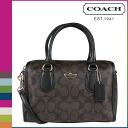 Coach COACH women's 2-WAY shoulder bag F34084 Brown x black signature Bennett Mini Satchel [2 / 2 new in stock] regular outlet ☆ ☆ ★ ★