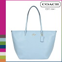 Coach COACH Womens Tote Bag F34103 pale blue cross-grain leather taxis zip top Tote [3 / 2 new in stock] regular outlet ★ ★