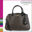 Point 2 x coach COACH women's 2-WAY shoulder bag F34605 Brown x black signecharminimargotcarey all [2 / 2 new stock] regular outlet ★ ★ 02P01Mar15