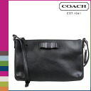 Coach COACH women's shoulder bag F51858 black Dulce saffiano leather Ribbon EW swing Pack [8 / 26 new in stock] regular outlet ★ ★