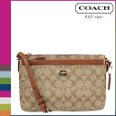 Point 2 x coach COACH women's shoulder bag F52657 khaki x saddle pouch comes with signature PVC EW cross body with leather pouch [3 / 2 new in stock] regular outlet ☆ ☆ ★ ★