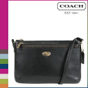 Point 2 x coach COACH women's shoulder bag F52881 black pouch with cross-grain leather East West pop Crossbody [2 / 2 new in stock] regular outlet ☆ ☆ ★ ★