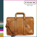 Coach COACH mens 2WAY shoulder bag Briefcase F70662 saddle Lexington leather Embassy Briefcase [9 / 19 new in stock] regular outlet
