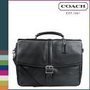 Coach COACH men's shoulder bag 2-WAY F 71073 black Lexington leather flip business briefs Briefcase [9 / 19 Add in stock] regular outlet ★ ★
