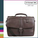 Coach COACH mens 2WAY shoulder bag Briefcase F71073 mahogany Lexington leather flip business briefs [9 / 11 new stock, regular outlet