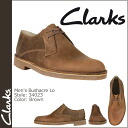 Clarks CLARKS casual shoes 34023 Bushacre Lo Oxford beeswax leather men's
