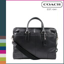Coach COACH men's business bag 2-way black bag g leather zip top briefs