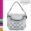 Coach COACH shoulder bag 2-Way white gray x white Brook ladies