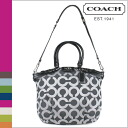Coach COACH Boston bag 2-Way gun metallic x black Madison op art metallic outline Sophia satchel ladies