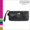Coach COACH clutch bag black Madison leather zip