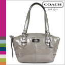 Coach COACH tote bag grey Chelsea patent small handbag