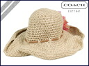 Coach COACH F81534 Hat flower crochet Sun Hat