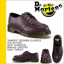 Dr. Martens Dr.Martens Clipper shoes Purple Leather mens Womens