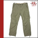 Double Aurel RRL Ralph Lauren cargo pants olive cotton men's bottoms cargo military cotton COTTON OLIVE vintage VINTAGE