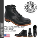 Wolverine WOLVERINE 1000 mile plain toe boots W05300 1000 MILE BOOT ORIGINAL leather men's Wolverine