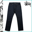 016742 ステューシー STUSSY denim REGULAR FIT cotton men